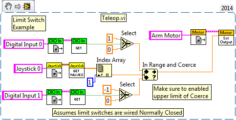 org robotic eagles first acirc reg robotics competition labview limit switch example